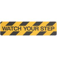 "Safety Track® ""WATCH YOUR STEP"" Commercial Grade Colors Anti-Slip Grit 6"" x 24"" Tread 24/cs"