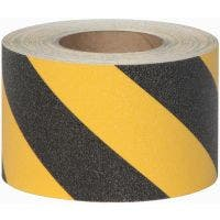 "Safety Track® Heavy Duty Grade Black/Yellow Striped Anti-Slip Grit 4"" x 60' Roll 3/cs"