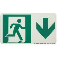 Running Man Right Down Arrow Rigid Egress Sign