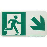 Running Man Right,Down Right Arrow Rigid Egress Sign