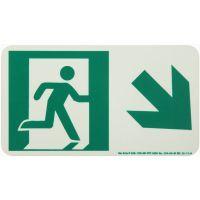 Running Man Right,Down Right Arrow Rigid Egress Sign