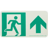 Running Man Right Forward Arrow Rigid Egress Sign