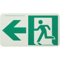 Running Man Left,W/ Left Arrow Rigid Egress Sign