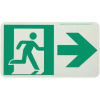 Running Man Right,W/ Right Arrow Rigid Egress Sign
