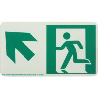 Running Man Left,Up Left Arrow Rigid Egress Sign