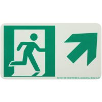 Running Man Right,Up Right Arrow Rigid Egress Sign