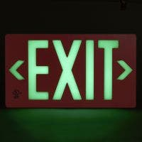 Glo Brite® UL 924 listed/listed to LED, 100FT viewing distance Exit sign, PF100