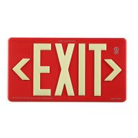 PM100 Glo Brite® Single Sided Exit Sign (Red
