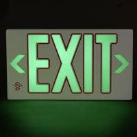 Glo Brite® UL 924 listed/listed to LED, 50FT viewing distance Exit sign, PF50