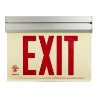Acrylic frame Glo Brite® Exit sign, UL924 listed/listed to LED, 50 Ft viewing distance