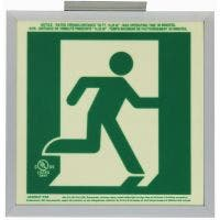 Glo Brite® CAN/ULC-5572 Running Man 2FC Egress Sign (double sided