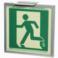 Glo Brite® CAN/ULC-5572 Running Man Left 2FC Egress Sign (single sided