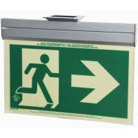 Glo Brite® CAN/ULC-5572 Running Man Right w/Arrow 2FC Egress Sign (single sided