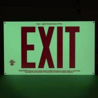 Frameless, UL 924 listed, screen printed Exit sign, 50 Ft viewing distance, Red letters, P50 (7280)