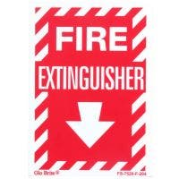 "Glo Brite® ""Fire Exinguisher"" sign"