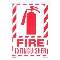 "Glo Brite® ""Fire Exinguisher"" sign, 10""x 14"" Red on Photoluminescent (FS-7520-F-206)"