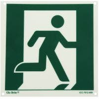 Glo Brite® Running Man right photoluminescent sign