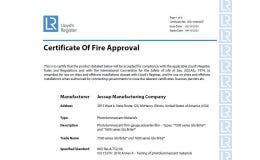 Glo Brite® 7500 & 7600 series Certificate of Fire Approval