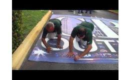 Trimming Seams On Asphalt Art® Panels