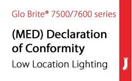Marine Equipment Directive (MED) Declaration of Conformity Low Location Lighting