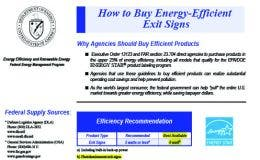 How To Buy Energy Efficient Exit Signs guide by the US Department of Energy