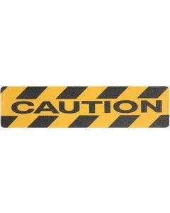 """Safety Track® """"CAUTION"""" Commercial Grade Colors Anti-Slip Grit 6"""" x 24"""" Tread 24/cs"""