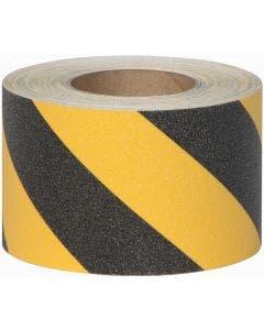 "Safety Track® Heavy Duty Grade Black/Yellow Striped Anti-Slip Grit 4"" x 60' Roll 3/cs"