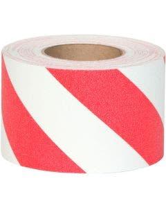 "Safety Track® Heavy Duty Grade Red/White Striped Anti-Slip Grit 4"" x 60' Roll 3/cs"