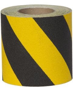 """Safety Track® Conformable Black/Yellow Stripe Anti-Slip Grit 3"""" x 60' Roll 4/cs"""