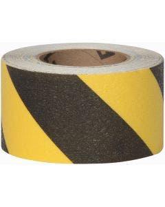 "Flex Track® Coarse Messaging Black/Yellow stripe Anti-Slip Vinyl 3""x54' Roll 4/cs"