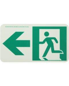 Running Man Left,W/ Left Arrow Rigid Egress Sign
