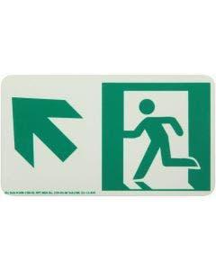 Running Man Left,Up Left Arrow Rigid Egress Sign