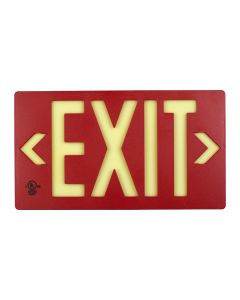 PF100 Glo Brite® Single Sided Exit Sign (Red