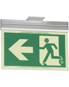 Glo Brite® CAN/ULC-5572 Running Man w/Arrow 5FC Egress Sign (double sided