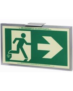 Glo Brite® CAN/ULC-5572 Running Man Right w/Arrow 5FC Egress Sign (single sided