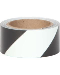 Glo Brite® 7520 Photoluminescent w/Black stripes 2 inch Egress Tape