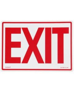 """Glo Brite® """"EXIT"""" sign, 14""""x10"""" Red on Photoluminescent (EG-7520-F-101-RP)"""