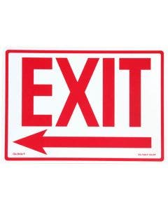 """Glo Brite® """"EXIT"""" sign, Left arrow 14""""x10"""" Red on Photoluminescent (EG-7520-F-103-RP)"""