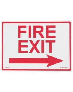 """Glo Brite® FIRE """"EXIT"""" sign, right arrow 14""""x10"""" Red on Photoluminescent (EG-7520-F-105-RP)"""