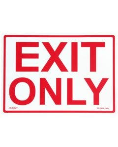"Glo Brite® ""EXIT ONLY"" sign, 14""x10"" Red on Photoluminescent (EG-7520-F-110-RP)"