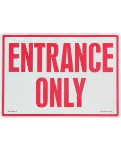 "Glo Brite® ""ENTRANCE ONLY"" sign, 14""x10"" Red on Photoluminescent (EG-7520-F-11-RP)"