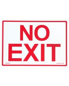 "Glo Brite® ""NO EXIT"" sign, 14""x10"" Red on Photoluminescent (EG-7520-F-112-RP)"
