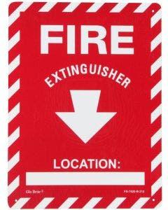 "Glo Brite® ""Fire Extinguisher"" w/location photoluminescent sign, 9"" X 12"" (FS-7520-R-212)"