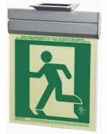 Glo Brite® CAN/ULC-5572 Running Man Left 5FC Egress Sign (single sided