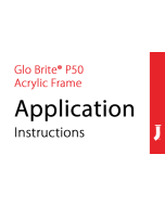 Jessup® Glo Brite® P50 Exit Sign Acrylic Frame Application Instructions