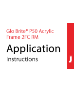 Jessup® Glo Brite® Running Man Acrylic Frame 2FC Application Instructions