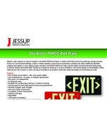Jessup® Glo Brite® PM100 Exit Sign Sell Sheet