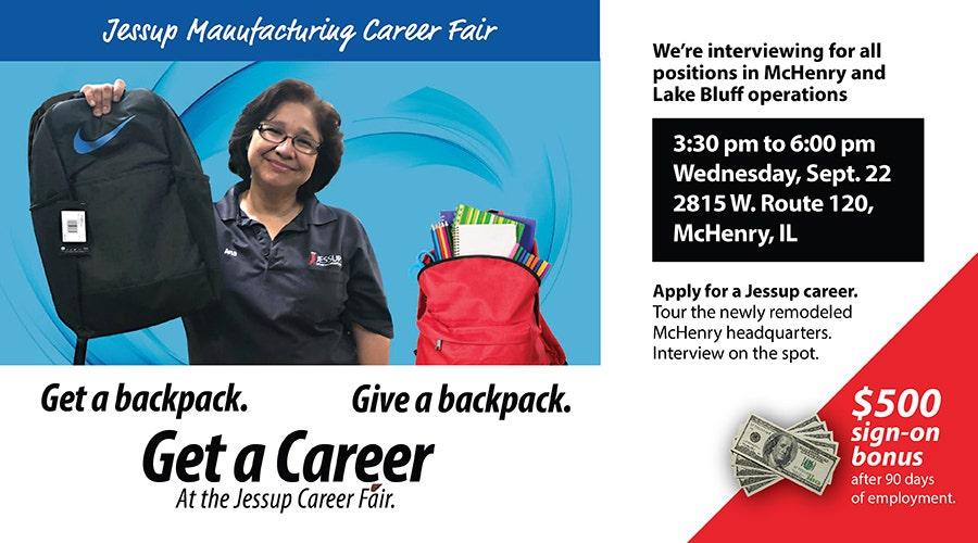 Jessup Manufacturing Career Fair pop-up
