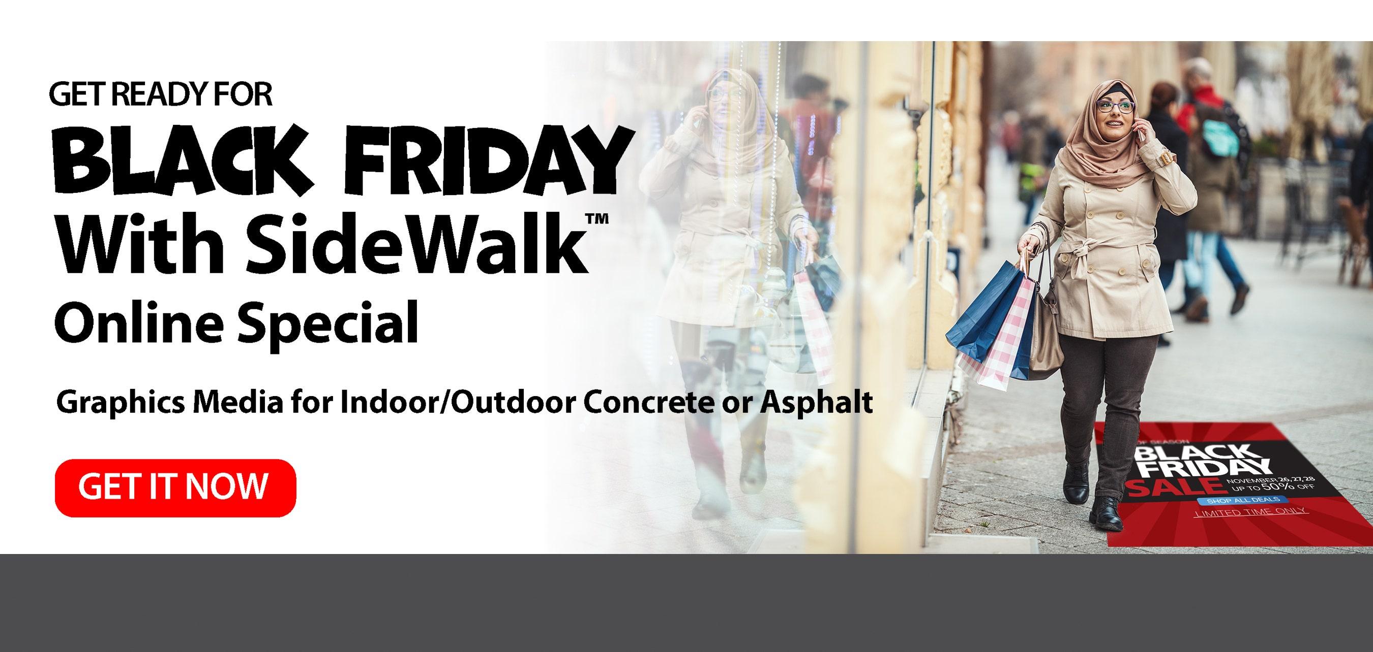 SideWalk print media for asphalt or concrete